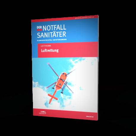 """Einzelheft Fachmagazin """"Der Notfallsanitäter""""/ Leitthema: """"Luftrettung"""""""