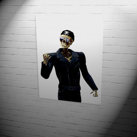 Poster | pirate skeleton