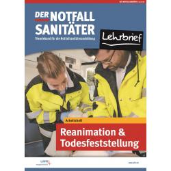 Der Notfallsanitäter Lehrbrief | Arbeitsheft Reanimation