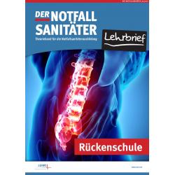 Der Notfallsanitäter Lehrbrief | Rückenschule