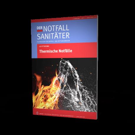 """Einzelheft Fachmagazin """"Der Notfallsanitäter""""/ Leitthema: """"Thermische Notfälle"""""""""""